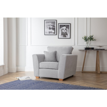 Fred Armchair in Ice Grey