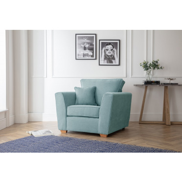Fred Armchair in Lagoon Blue