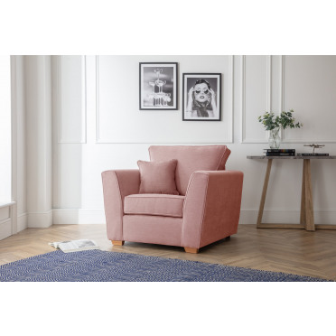 Fred Armchair in Plum Pink