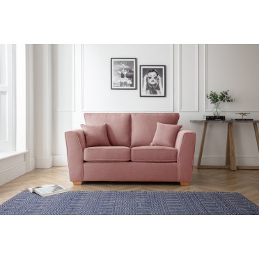 Fred 2 Seater Sofa in Plum Pink