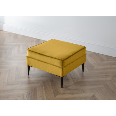Olive Footstool in Yellow