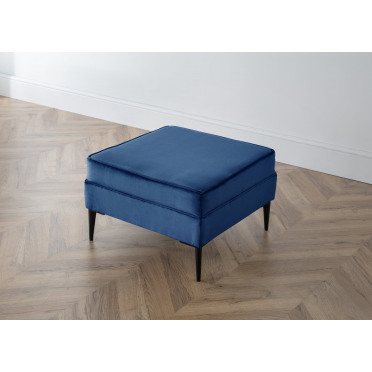 Olive Footstool in Navy