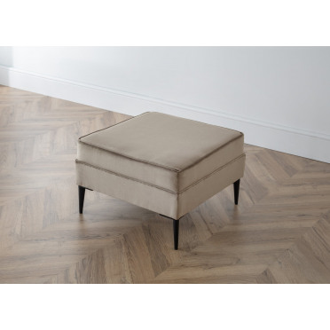 Olive Footstool in Putty Cream