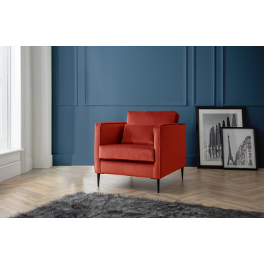 Olive Armchair in Apricot Orange