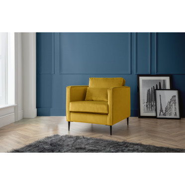 Olive Armchair in Yellow