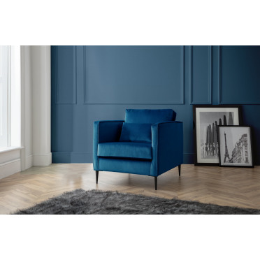 Olive Armchair in Navy