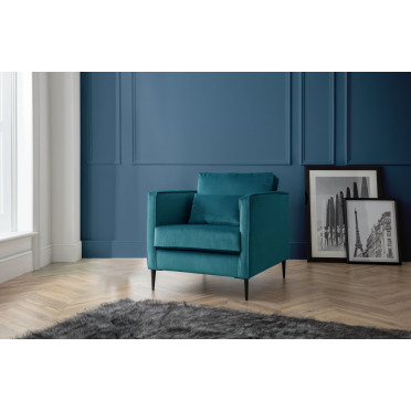 Olive Armchair in Peacock Teal
