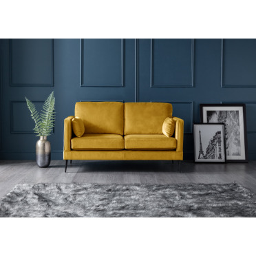 Olive 2 Seater Sofa in Yellow