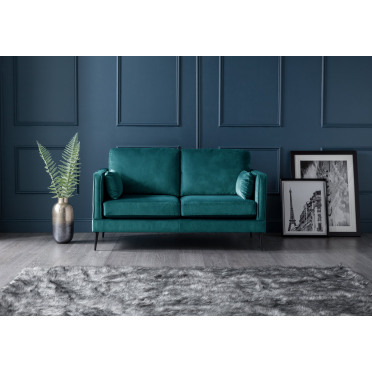 Olive 2 Seater Sofa in Peacock Teal