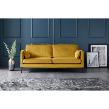 Olive 3 Seater Sofa in Yellow