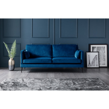 Olive 3 Seater Sofa in Navy