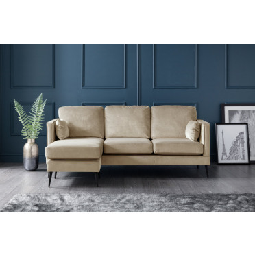 Olive Left Hand Chaise Lounge Sofa in Putty Cream