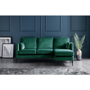 Olive Right Hand Chaise Lounge Sofa in Jasper
