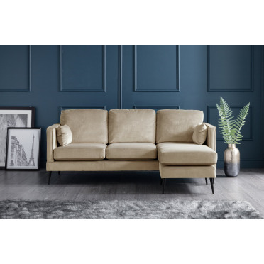 Olive Right Hand Chaise Lounge Sofa in Putty Cream