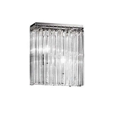 Meteor Chrome and Crystal Ceiling Light - 2 Lights