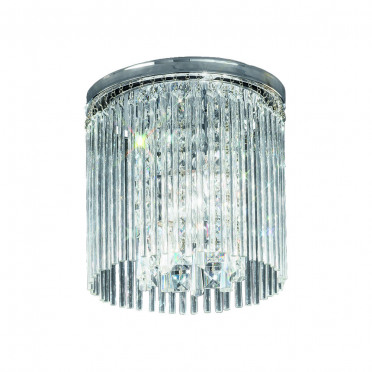 Meteor Chrome and Crystal Round Ceiling Light