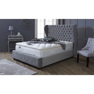 Oxford Upholstered Winged Bed Frame and Headboard