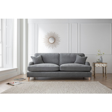 Piper 4 Seater Sofa in Charcoal Grey