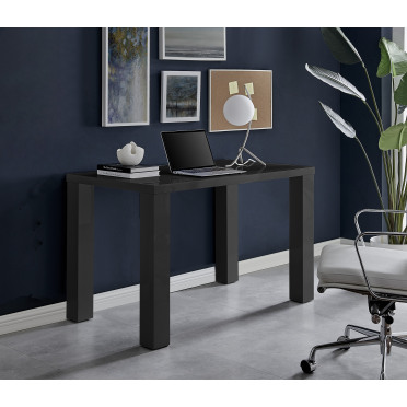 Pivero Black High Gloss Computer PC Home Working Office Desk