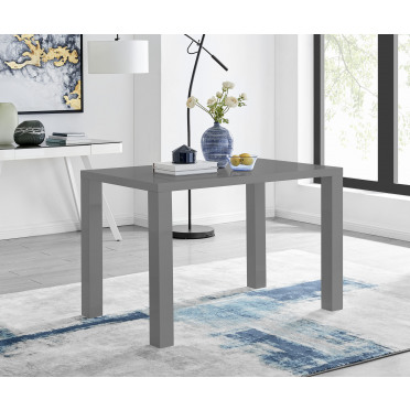 Pivero 4 Grey Modern High Gloss Dining Table