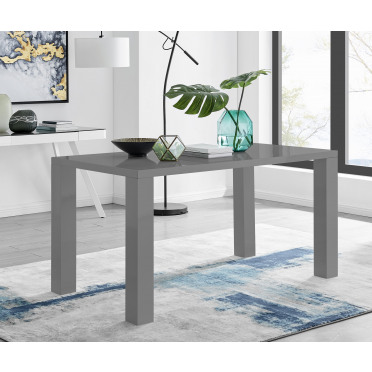 Pivero 6 Grey High Gloss Modern Dining Table