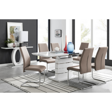 Renato 6 Extending Table And 6 or 8 Lorenzo Chairs