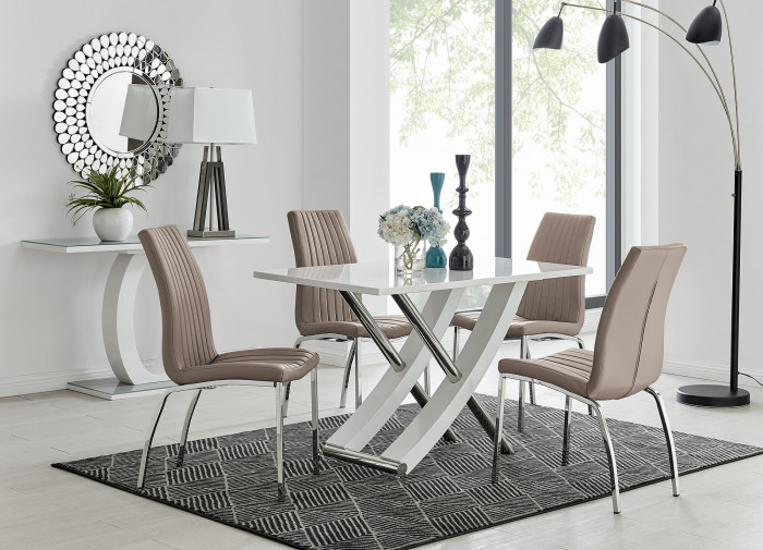 Mayfair 4 Dining Table and 4 Isco Chairs