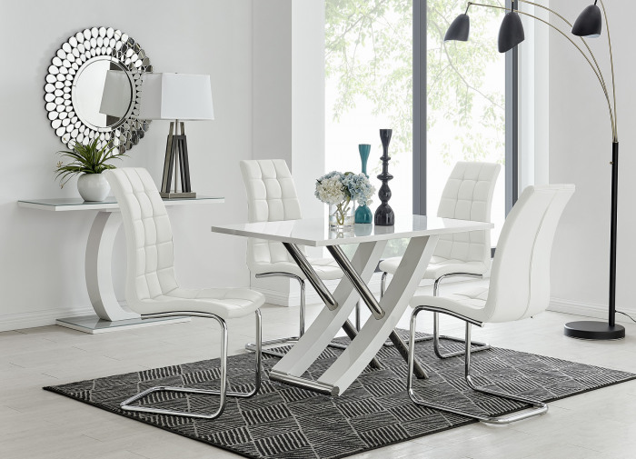 Mayfair 4 Dining Table and 4 Murano Chairs
