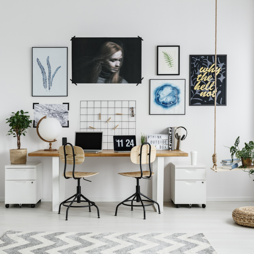 Image of a home office. Add one if you can to prepare your home for sale