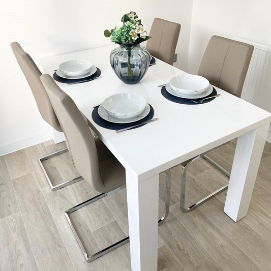 Unpack your dining set as soon as posable when moving house. You'll need it for the celebratory takeaway!
